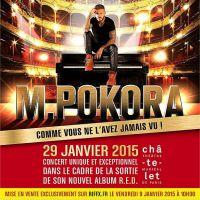 """M. Pokora : un concert inédit plein de surprises pour la sortie de l'album """"R.E.D."""""""