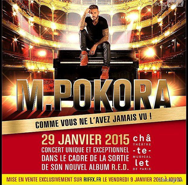 M. Pokora : un concert surprise au théâtre du Châtelet, le 29 janvier 2015