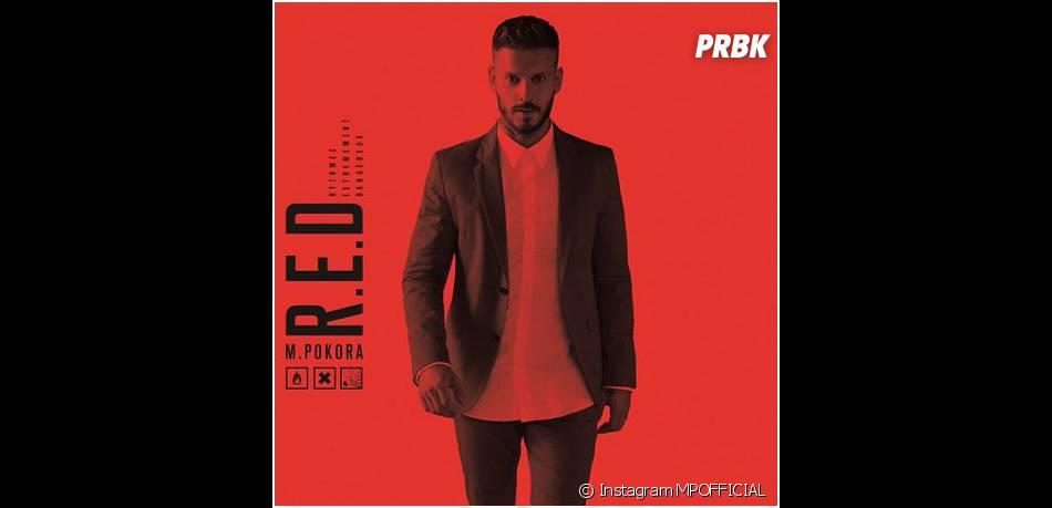M. Pokora : la pochette de son album R.E.D