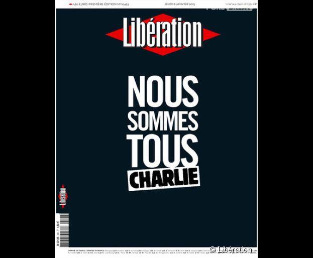 Charlie Hebdo : la Une de Libération au lendemain de l'attentat terroriste qui a coûté la mort à 12 journalistes et policiers à Paris