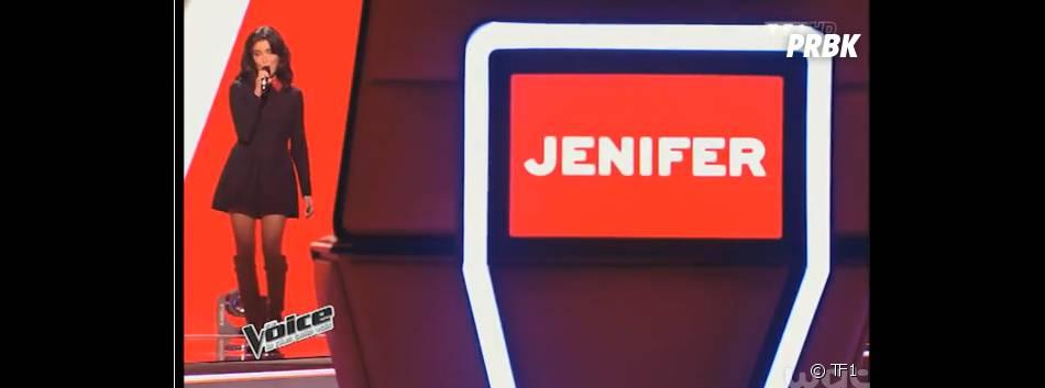Jenifer en Valentino dans The Voice 4, le 10 janvier 2015 sur TF1