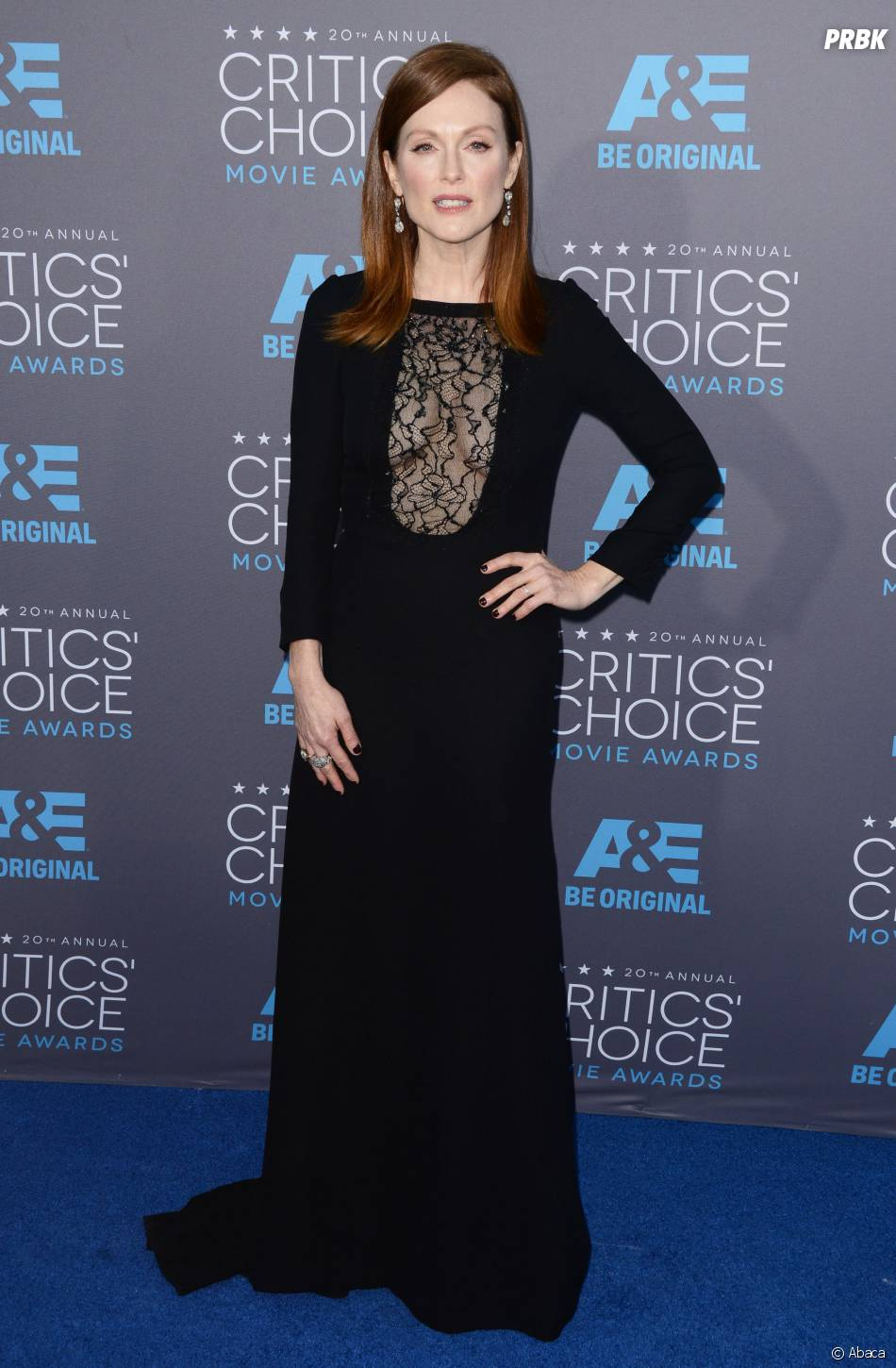 Julianne Moore sur le tapis rouge de la 20e cérémonie des Critics' Choice Awards 2015, à Los Angeles le 15 janvier 2015
