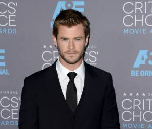 Chris Hemsworth sur le tapis rouge de la 20e cérémonie des Critics' Choice Awards 2015, à Los Angeles le 15 janvier 2015