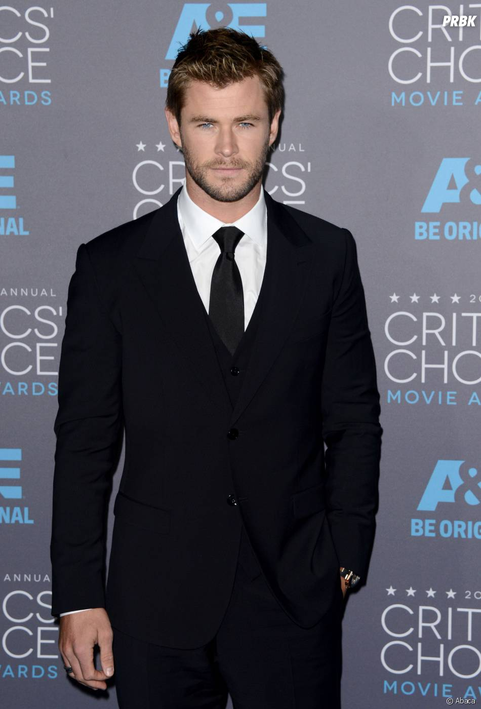 Chris Hemsworth sur le tapis rouge de la 20e cérémonie des Critics' Choice Awards 2015, à Los Angeles le 15 janvier 2015