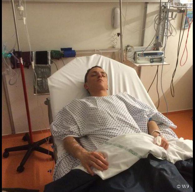 Les Princes de l'amour 2 : Arthur sur son lit d'hôpital, sur Twitter, le 20 janvier 2015