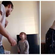 Un père se dispute avec sa petite fille, mais ce n'est pas ce que vous croyez
