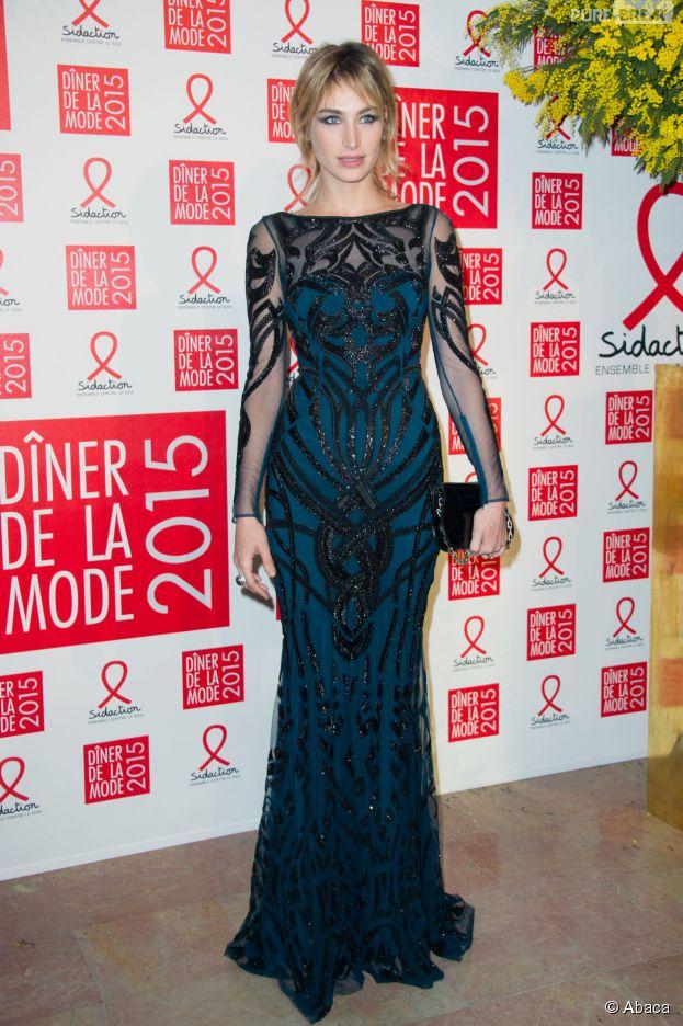 Pauline Lefèvre au gala du Sidaction, le 29 janvier 2015 à Paris