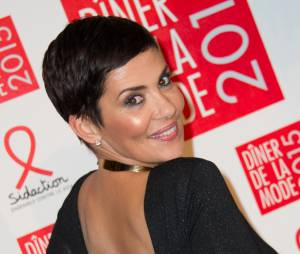 Cristina Cordula au gala du Sidaction, le 29 janvier 2015 à Paris