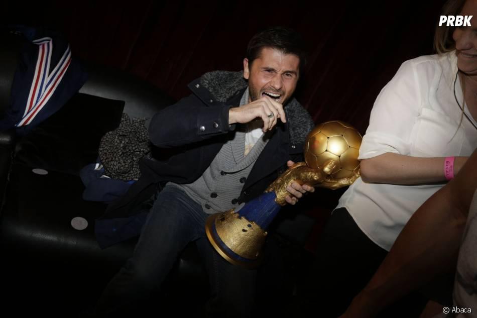Christophe Beaugrand au VIP Room pour fêter la victoire de l'équipe de France de handball au championnat du monde 2015, le 2 février 2015