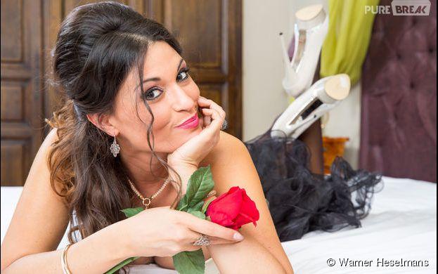 Livia (Le Bachelor) sexy pour un shooting spécial Saint-Valentin du site Missitems