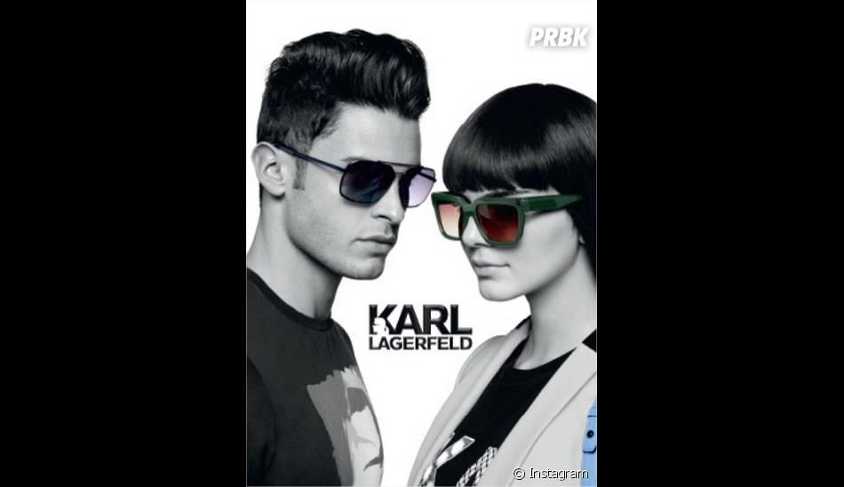 Kendall Jenner et Baptiste Giabiconi : image de leur campagne pour la marque de Karl Lagerfeld
