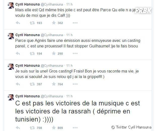 Cyril Hanouna : tweets contre Les victoires de la musique