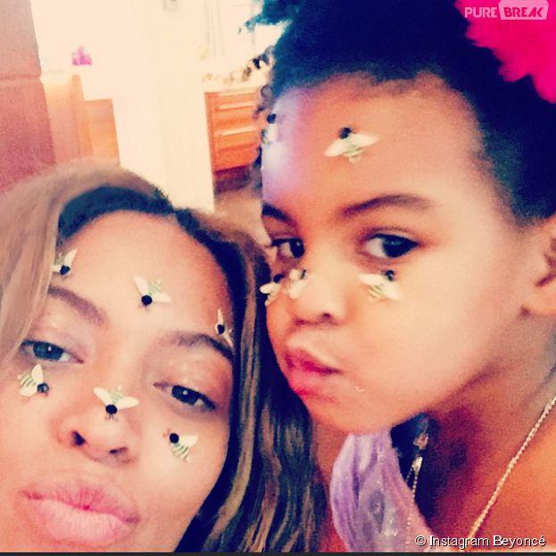 Beyoncé et Blue Ivy : selfie 100% cute de Saint-Valentin sur Instagram, le 15 février 2015