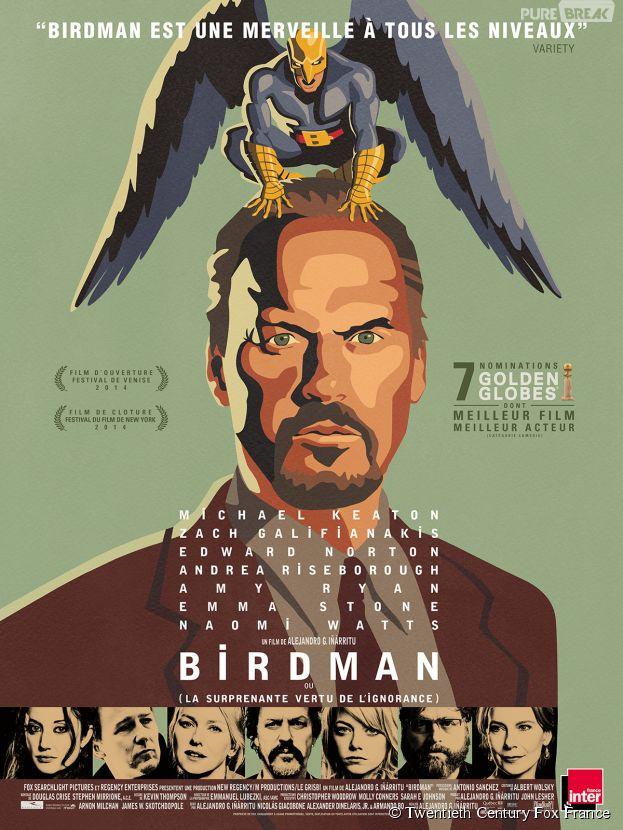 Oscars 2015 : Birdman meilleur film