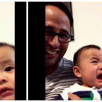 Trop mignon : ce bébé ne supporte pas lorsque son père se met à pleurer