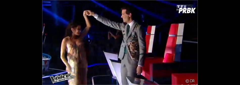 Jenifer en robe Alexander McQueen pour la demi-finale de The Voice 3