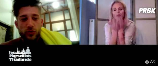 Paga parle avec Adixia sur Skype dans Les Marseillais en Thaïlande