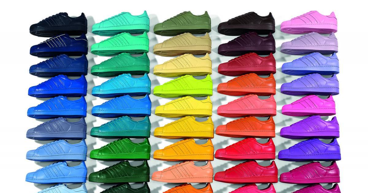 9a500ed99ee8 Adidas Superstar x Pharrell Williams   ils nous en font voir de toutes les  couleurs ! - Purebreak