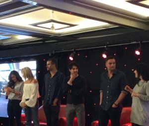 Jenna Ushkowitz, Becca Tobin, Jacob Artist, Darren Criss et Mark Sallin à la convention Gleek Reunion à Paris le 21 mars 2015