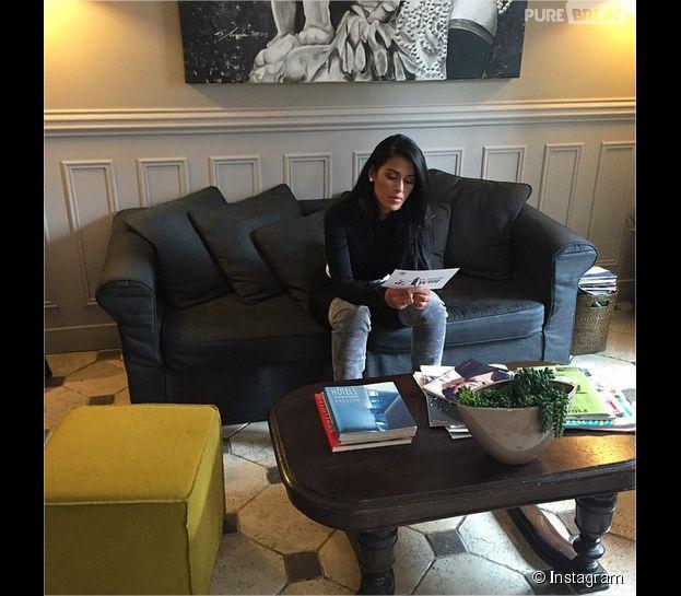 Ayem Nour de retour sur le tournage de L'oeil d'Ayem le 27 mars 2015
