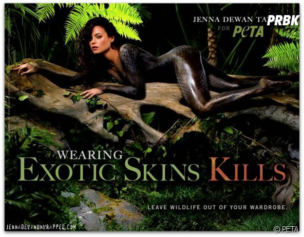Jenna Dewan (Witches of East End) nue pour PETA