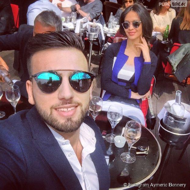 Aymeric Bonnery et Leila Ben Khalifa réunis à Paris, le 10 avril 2015