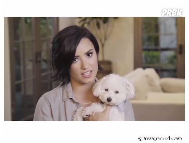 Demi Lovato et son chien