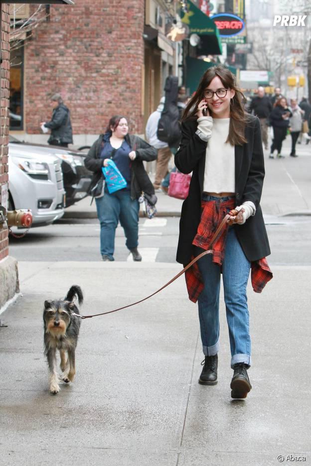 Dakota Johnson et son chien