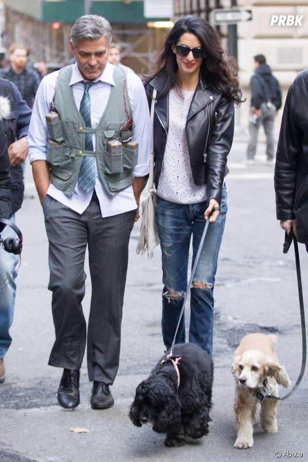 George Clooner et son chien