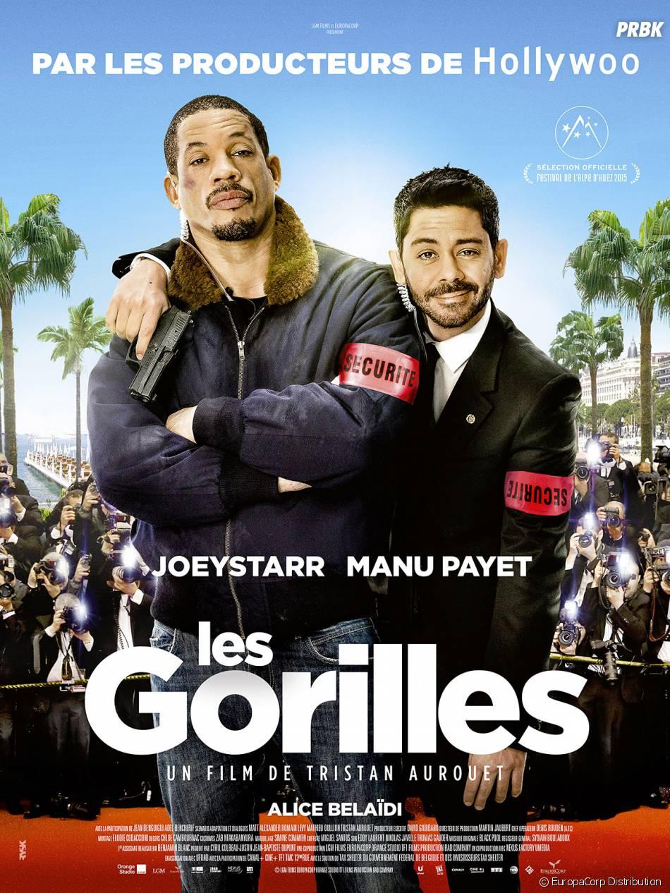 Les Gorilles : l'affiche du film avec Manu Payet et Joey Starr