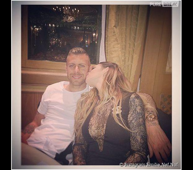 Emilie Nef Naf et Jérémy Ménez : couple complice pendant un dîner de charité à Milan, le 20 avril 2015