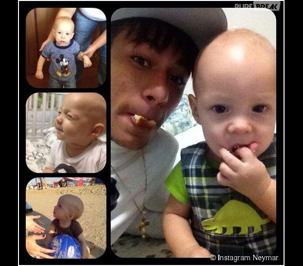 Neymar et son fils Davi Lucca en août 2012 sur Instagram