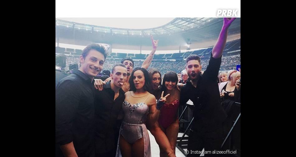 Alizée sexy pour le concert Stars 80 au Stade de France, le 9 mai 2015