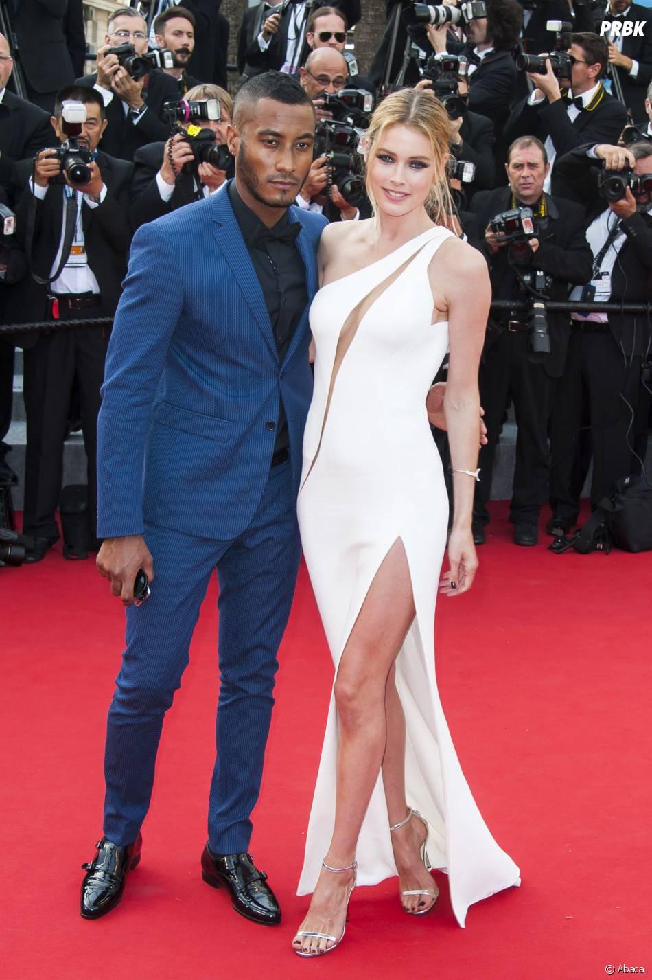 Doutzen Kroes et son mari sur le tapis rouge, le 13 mai 2015 au Festival de Cannes