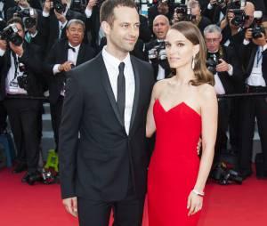 Natalie Portman et Benjamin Millepied en couple sur le tapis rouge, le 13 mai 2015 au Festival de Cannes