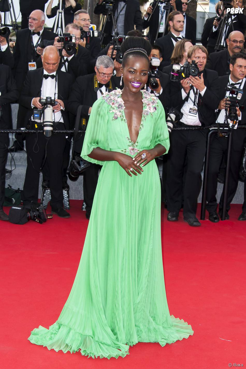 Lupita Nyong'o sur le tapis rouge, le 13 mai 2015 au Festival de Cannes