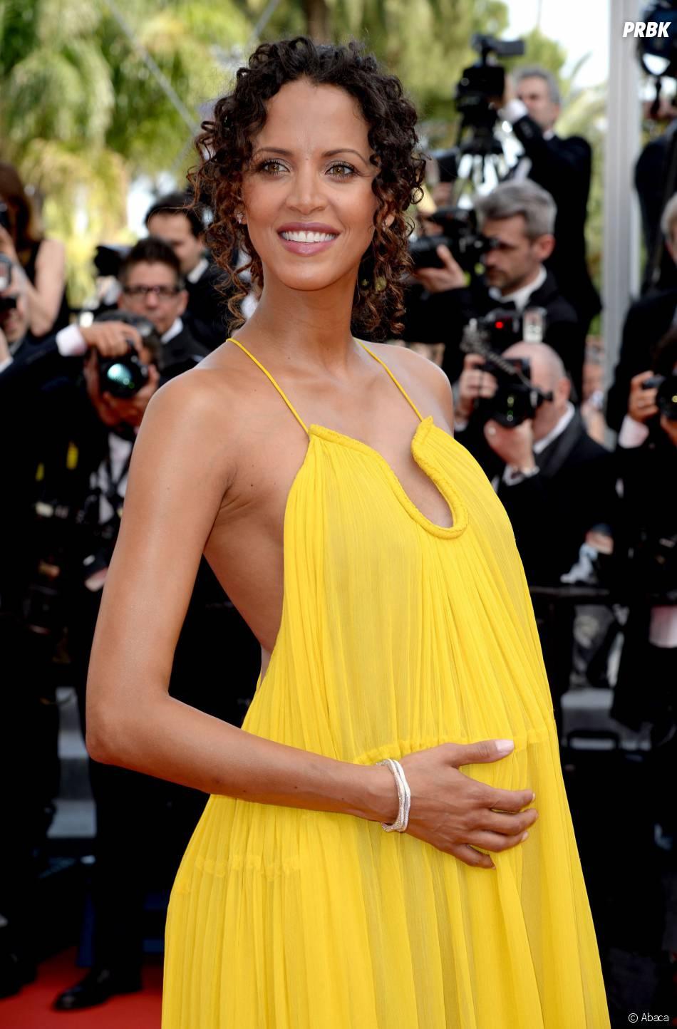 Noémie Lenoir enceinte sur le tapis rouge, le 13 mai 2015 au Festival de Cannes