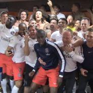 PSG champion de France 2015 : douches au champagne et gros câlins dans le vestiaire