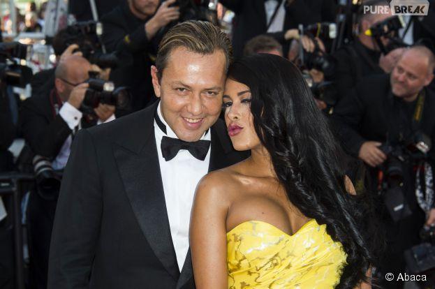Ayem Nour et Vincent Miclet en couple sur le tapis rouge du Festival de Cannes, le 18 mai 2015