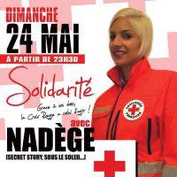 Nadège Lacroix engagée pour une soirée au profit de La Croix Rouge après un passage à Cannes