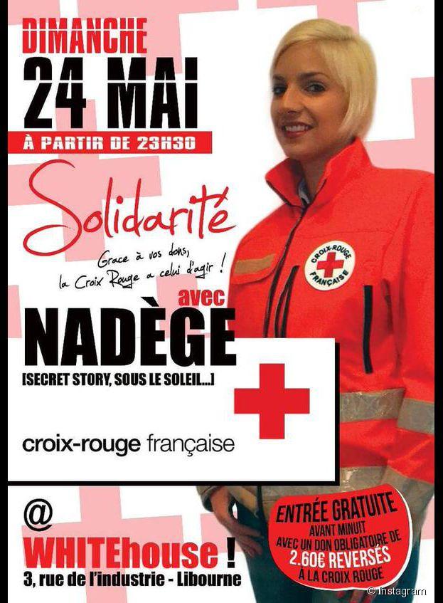 Nadège Lacroix engagée pour La Croix Rouge lors d'une soirée