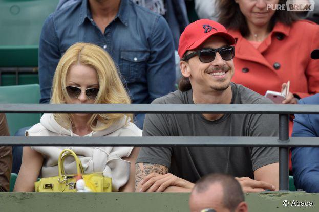 Zlatan Ibrahimovic dans les tribunes de Roland Garros, le 28 mai 2015