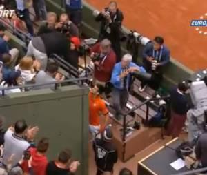 Novak Djokovic va saluer Zlatan Ibrahimovic à Roland Garros