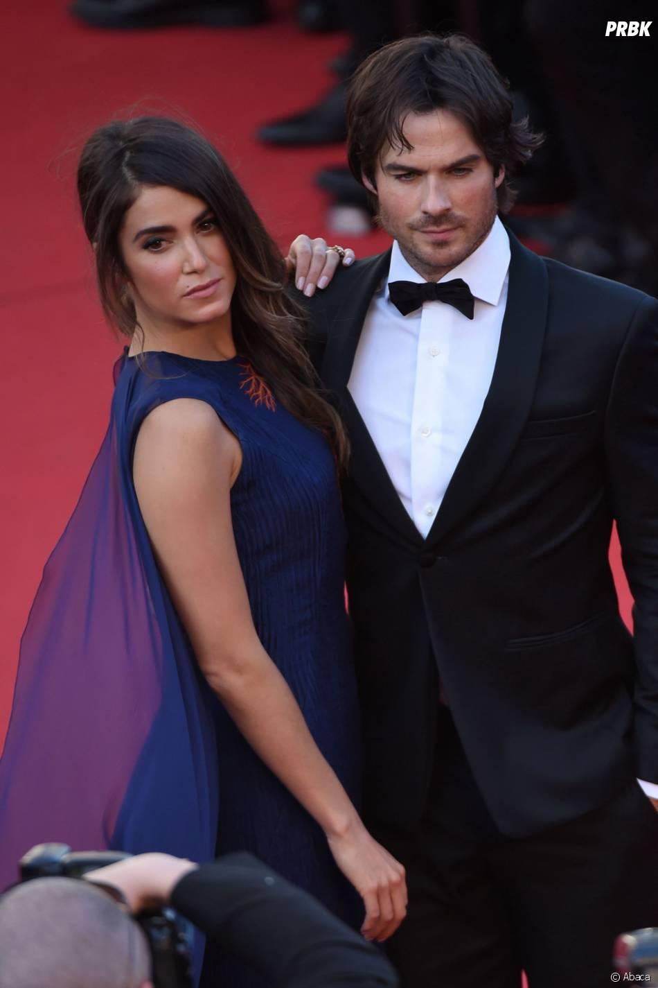 Ian Somerhalder et Nikki Reed en couple pour la montée des marches du film Youth, au Festival de Cannes le 20 mai 2015
