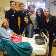 Shay Mitchell, Ashley Benson.. Les stars de Pretty Little Liars rendent visite à des enfants malades