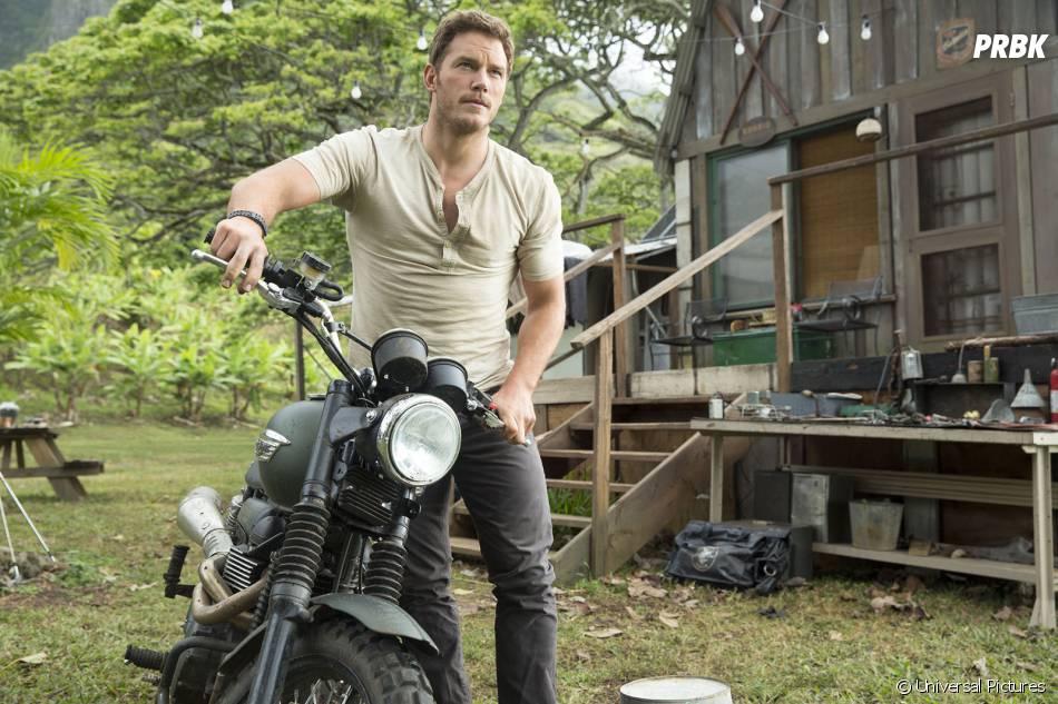 Jurassic World : Chris Pratt sur une image extraite du film