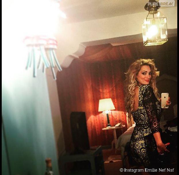 Emilie Nef Naf canon dans sa robe courte à Venise, en Italie, le 5 juin 2015