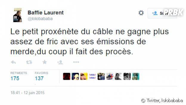"""Laurent Baffie insulte Jérémy Michalak de """"proxénète du câble"""""""