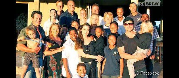 Angelina Jolie : elle adopte 3 bébés guépards dans une réserve naturelle en Namibie, juin 2015