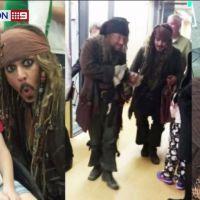 Johnny Depp dans la peau de Jack Sparrow pour rendre visite à des enfants malades